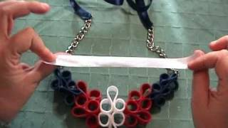 Aprende a hacer un collar con cremalleras