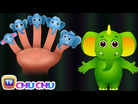 Elephant Finger Family | ChuChu TV Animal Finger Family Songs & Nursery Rhymes For Children