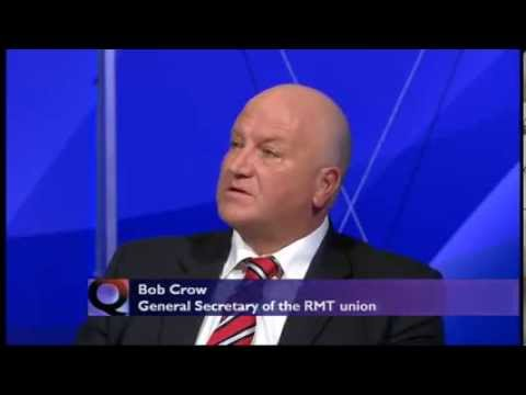 RIP Bob Crow - Labour party has betrayed working people - BBC Question Time (07Mar13)