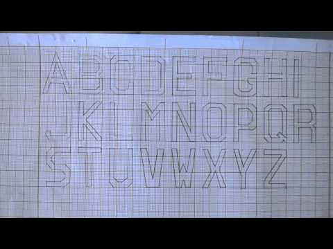 Letra bastão em Papel Milimetrado.
