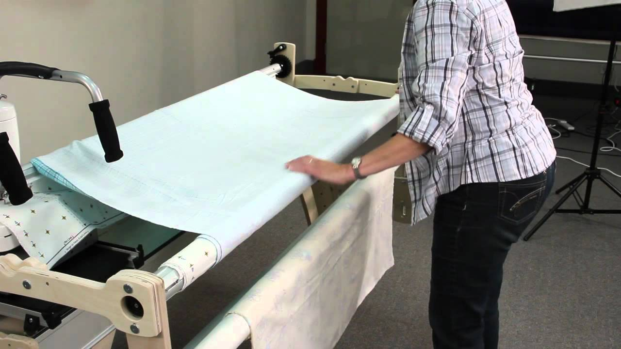 Attaching fabric to a wooden grace quilting frame youtube