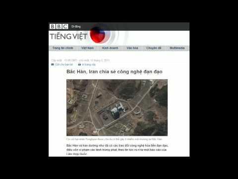 15-05-2011 - BBC Vietnamese - Bắc Hàn, Iran chia sẻ công nghệ đạn đạo