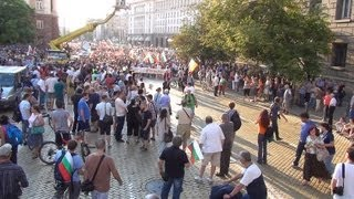 [Protest in Sofia 08.07.2013 in front of Council of Ministers...]