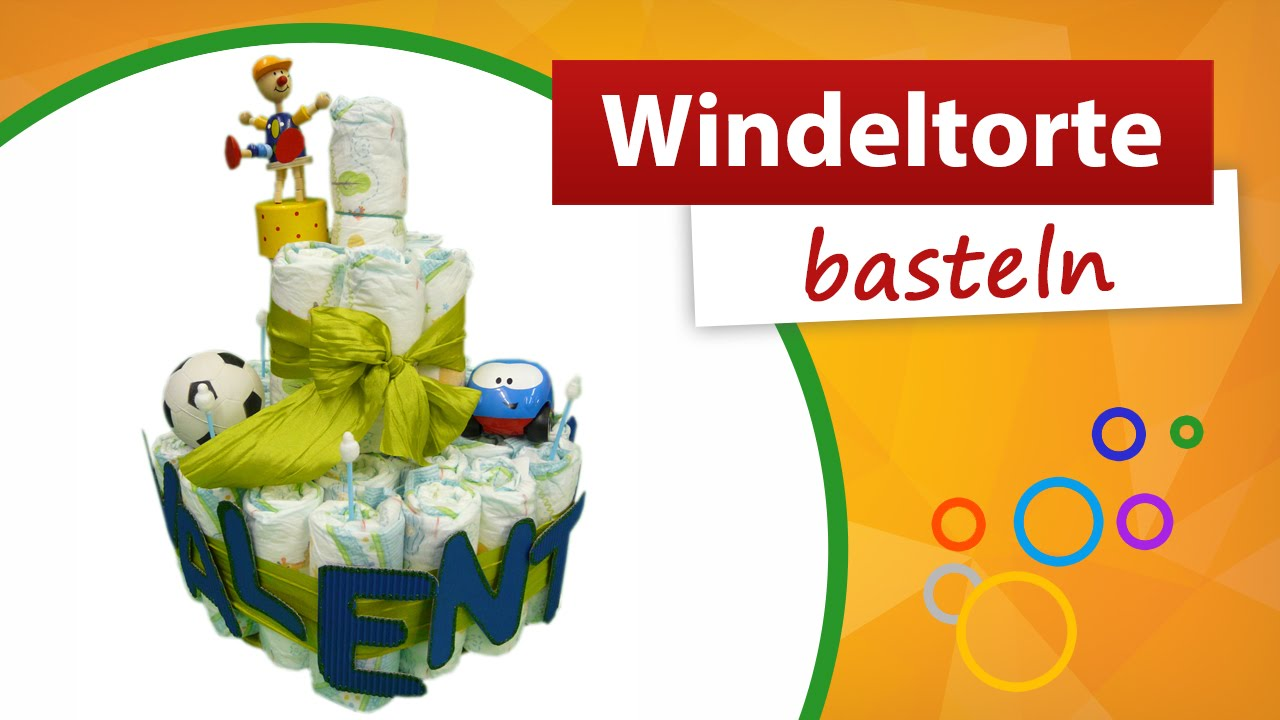 windeltorte basteln do it yourself trendmarkt24 babygeschenk youtube. Black Bedroom Furniture Sets. Home Design Ideas