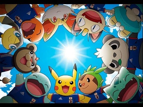 Pikachu la mascota oficial de Japón en el mundial.