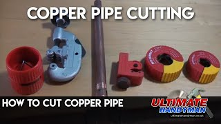 Cutting copper pipe using a pipe slice