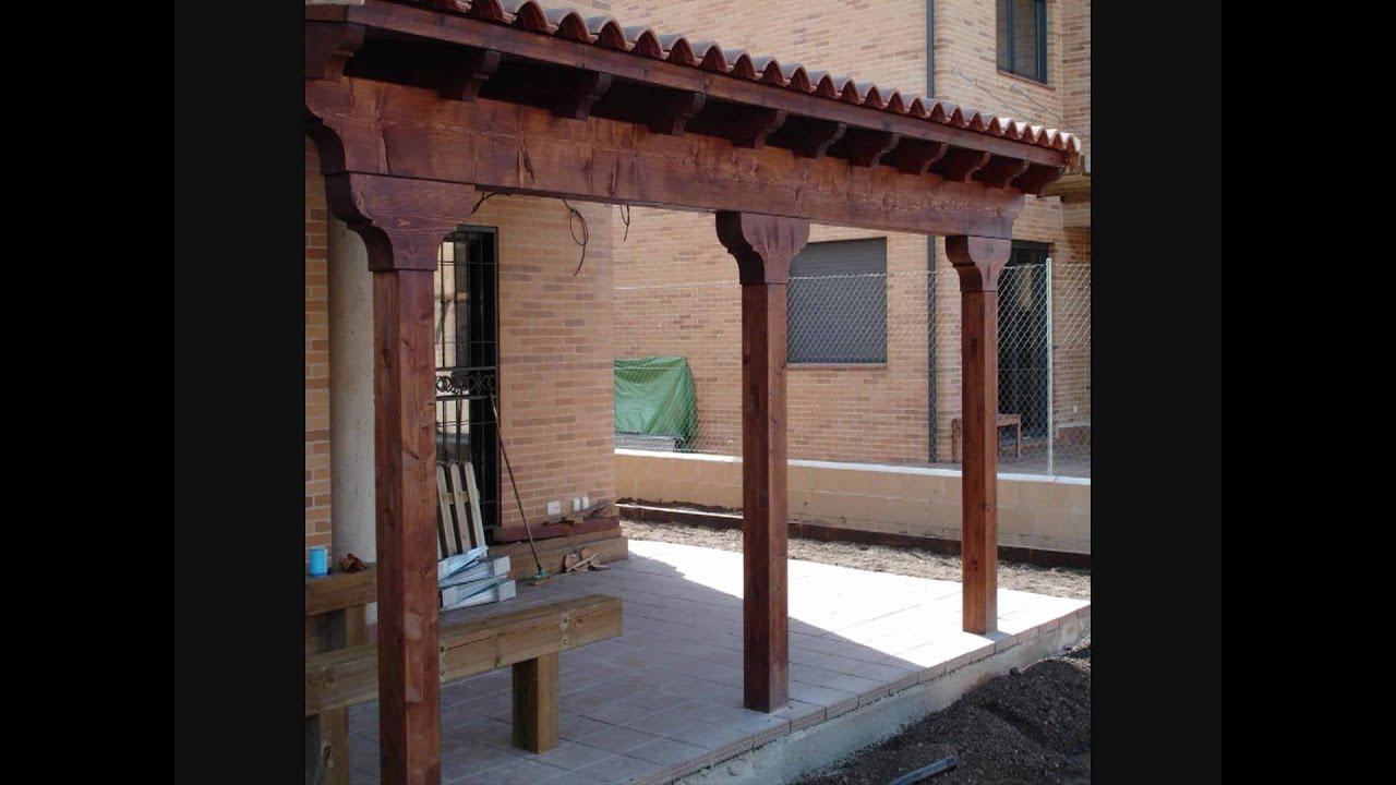 Porches y pergolas de madera youtube - Pergolas y porches ...