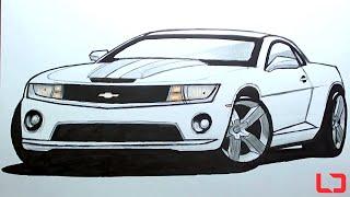 Como Desenhar Carros: Camaro SS How To Draw Cars: Camaro