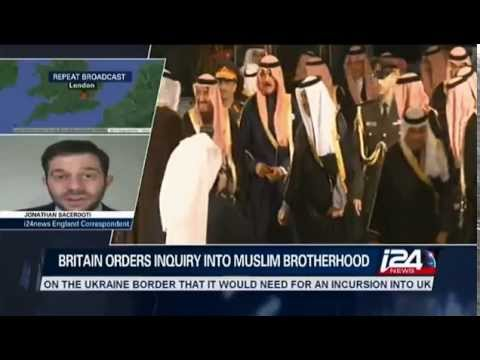 Jonathan Sacerdoti on i24news, discussing David Cameron's probe into the Muslim Brotherhood