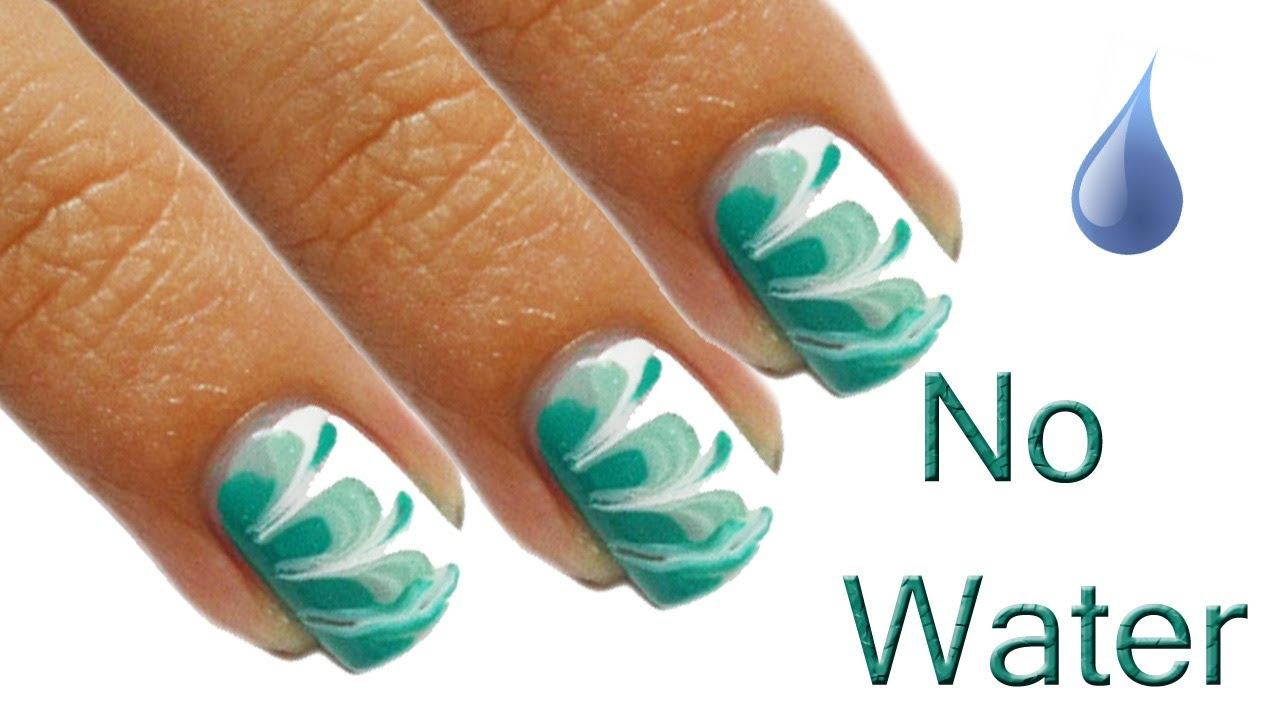 No Waterquot Marble Nails Tutorial Youtube Water Nail Art