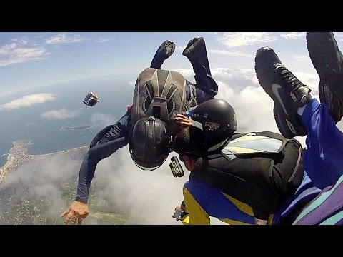 Friday Freakout: Meat Missile Collides With Skydivers, Loses Cameras & Helmet