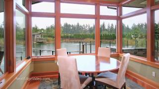 TWO MILLION DOLLAR Luxury Homes for sale WA Washington Jet over San Juan Islands