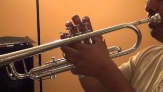 Aprendiendo a tocar trompeta. parte 3