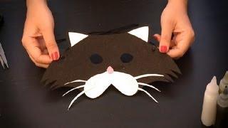 Como hacer un antifaz de gato