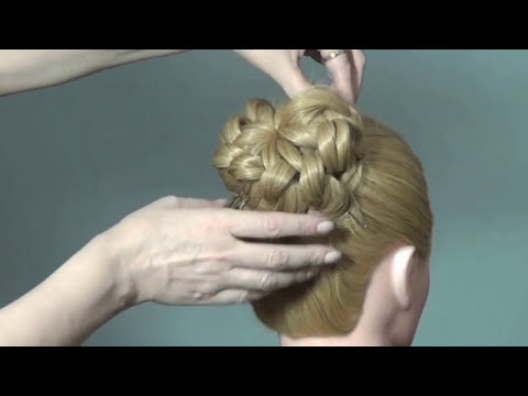 . Elegant wedding bun updo hairstyles tutorial - YouTube