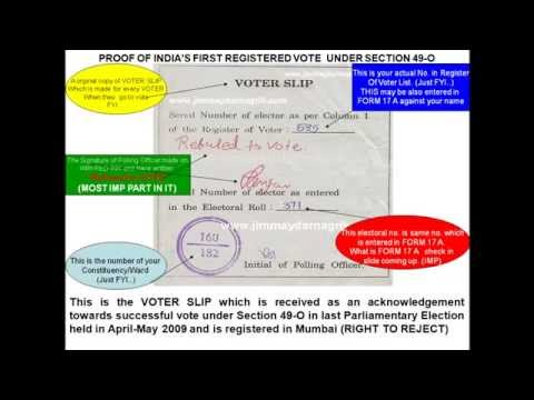 WHY VOTE FOR NOTA