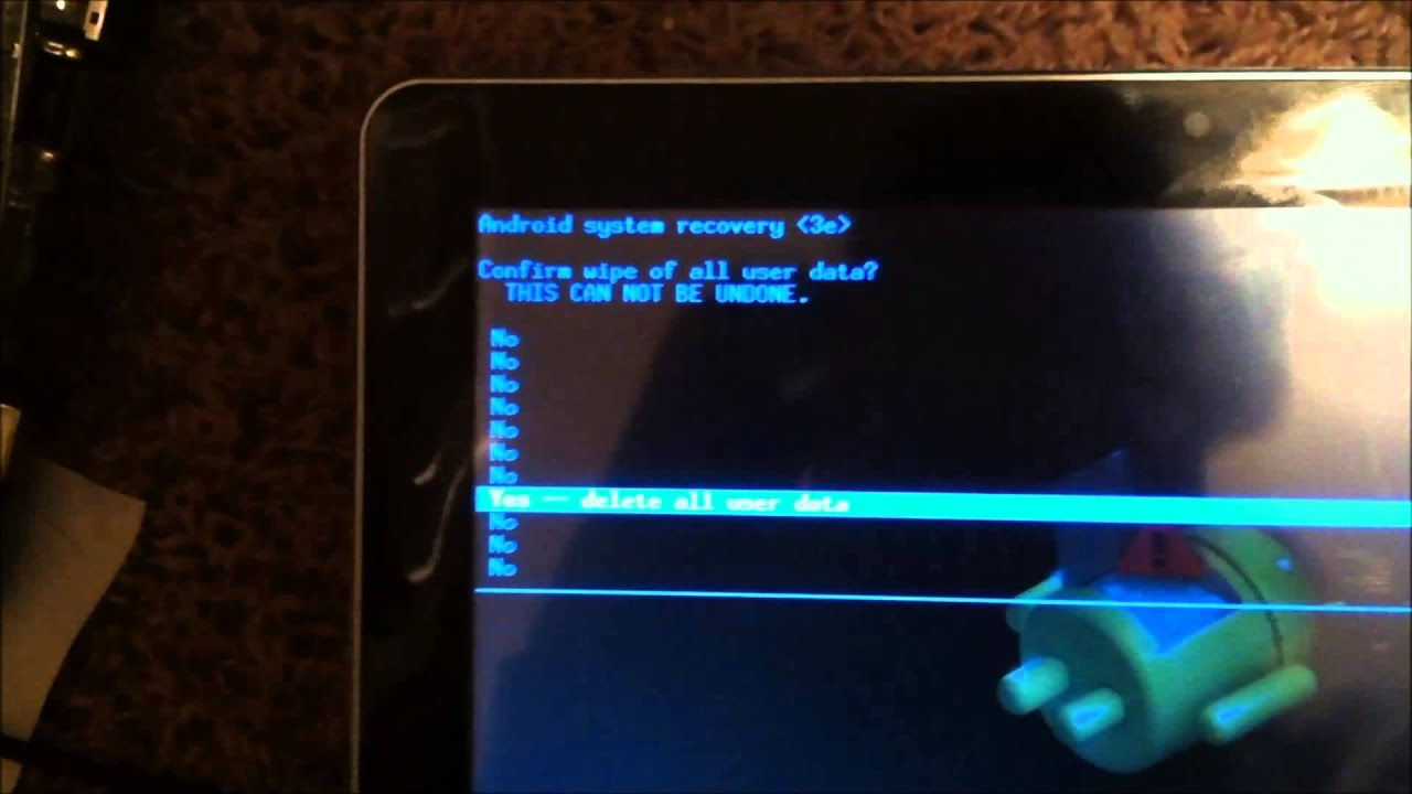 Android tablet stuck on boot screen