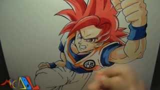 Dibujando A: Goku SSJ Dios