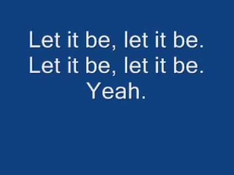 Beatles - Let It Be - Lyrics
