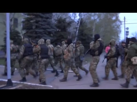 Armed Russian Terrorists Invade Kramatorsk Eastern Ukraine