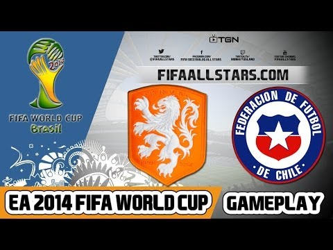 EA 2014 FIFA World Cup Gameplay Netherlands Vs Chile - FIFAALLSTARS.COM
