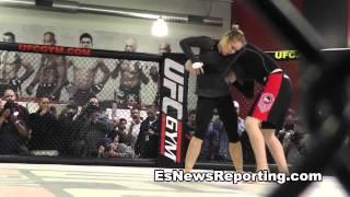 Ronda Rousey Practice Drills