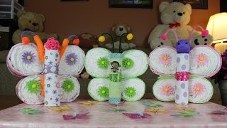 Butterfly Diaper Cake (How To Make)