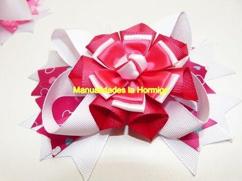 boton de rosas en cinta para decorar flores  y armar grandes moños para el cabello
