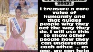 Megan Young Question and Answer Miss World 2013