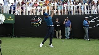 Tiger Woods slo-mo swing analysis at Cadillac
