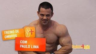 Treino de ombros com o atleta Paulo Lima