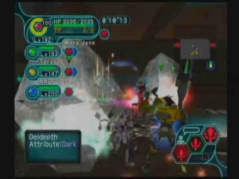 Phantasy Star Online GC Schthack 4p Max Attack 2B