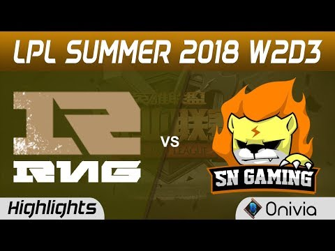 RNG vs SNG Highlights Game 2 LPL Summer 2018 W2D3 Royal Never Give Up vs Suning Gaming by Onivia