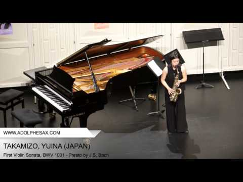 Dinant 2014 TAKAMIZO Yuina (First Violin Sonata, BWV 1001 Presto by J S Bach)