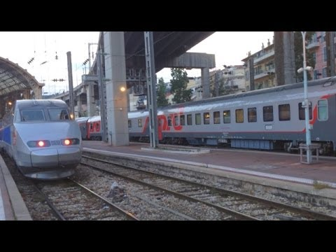 Поезд Ницца - Москва: Russian Train Nice - Moscow departing from Nice Ville, France