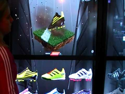ISE 2011 adidas intel touch screen interactive wall