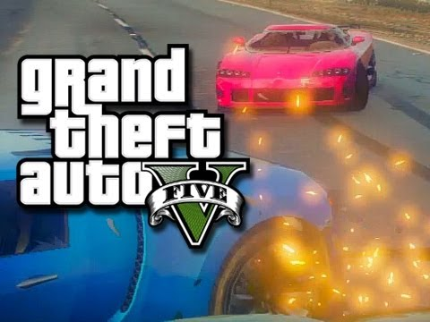 GTA 5 - Drag Races, Kicking People, and More!  (GTA 5 Custom Races and Funny Moments!)