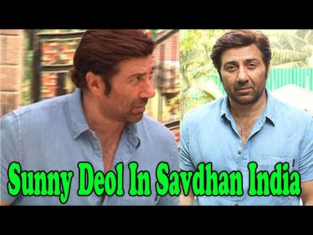 Sunny Deol On The Set Of ''Savdhan India''