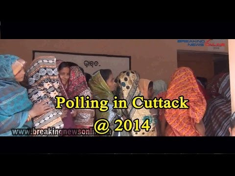 Polling in Cuttack @ 2014