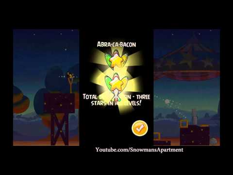 Abra-Ca-Bacon 2-12 Angry Birds Seasons - level 12 Walkthrough 3 Stars (HD)