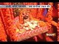 Devotees gather near a Krishna temple to celebrate Janmashtami in Mathura