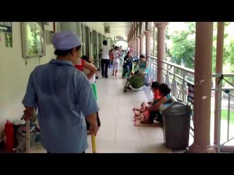 Hành lang bệnh viện nhi đồng 2