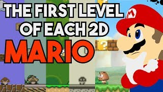 The First Level of each 2D Mario Game.
