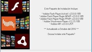Adobe Flash Player Active X Y Plugin (2 En 1) Windows 7