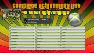 GTA 5 | Complete Achievement List Revealed | 49 Total Achievements | Xbox 360 & PS3 |