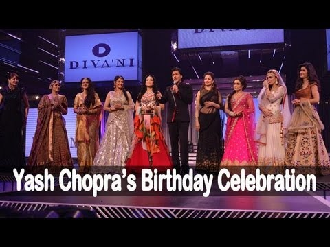 Shah Rukh Khan, Katrina Kaif, Sridevi And Others At Yash Chopra's Birthday Celebration