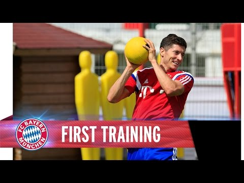 Pep meets Robert Lewandowski | First Training together