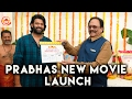 Watch: Prabhas New Movie Launched - Sujith- UV Creations..