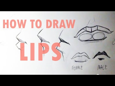 easy things to draw lips how to