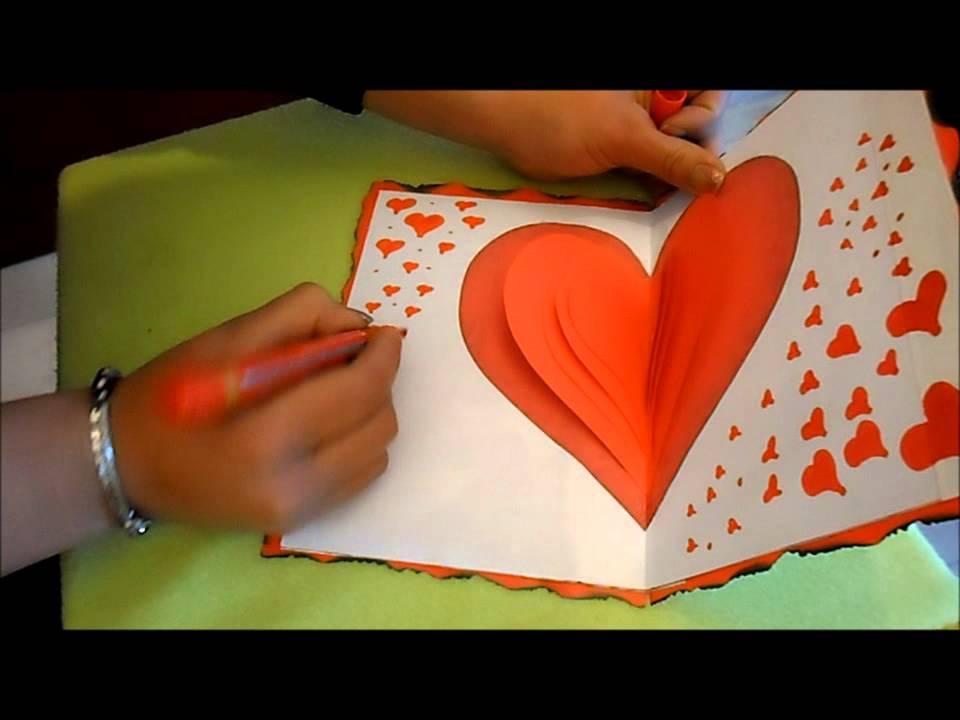 como hacer una tarjeta para el dia del amor y la amistad YouTube